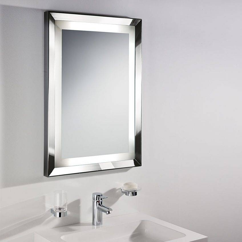 Silver Bathroom Mirror Rectangular – Harpsounds (#16 of 20)