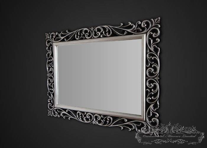 Silver Black Ornamental Mirrors From Ornamental Mirrors Limited Throughout Landscape Wall Mirrors (#21 of 30)