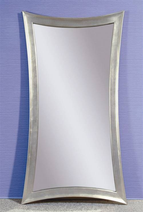 Silver Color Modern Floor Mirror   Trendy Mods With Regard To Modern Silver Mirrors (View 12 of 20)