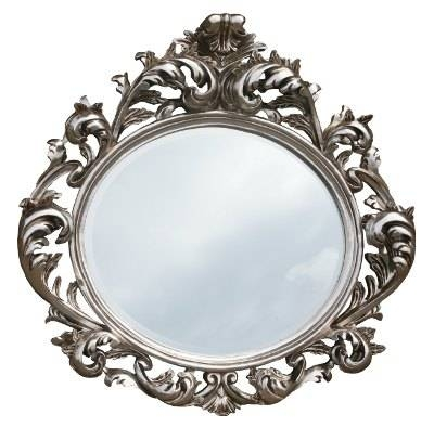 Silver Decorative Wall Oval Mirror | French Mirror Company Within Silver Oval Mirrors (#17 of 20)