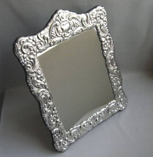 Silver Dressing Table Mirror.   44043   Sellingantiques.co (#17 of 20)