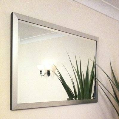 Silver Framed 30X20 Bevelled Mirror Within Bevelled Mirrors (#18 of 20)