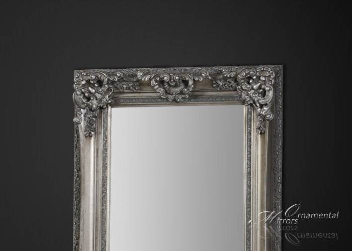 Silver Framed Full Length Mirror Pertaining To Antique Long Mirrors (#16 of 20)