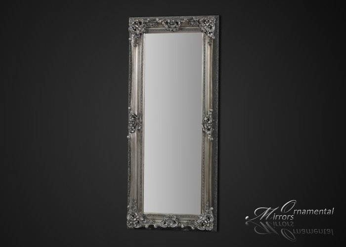 Silver Framed Full Length Mirror Throughout Long Silver Mirrors (#22 of 30)