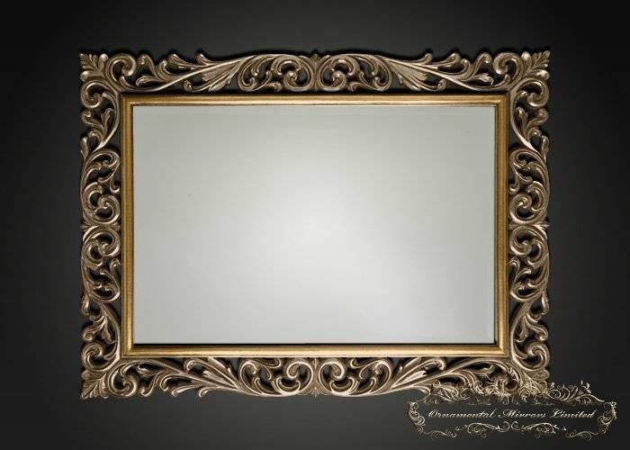 Silver Gold Ornamental Mirrors From Ornamental Mirrors Limited Within Ornamental Mirrors (View 4 of 20)