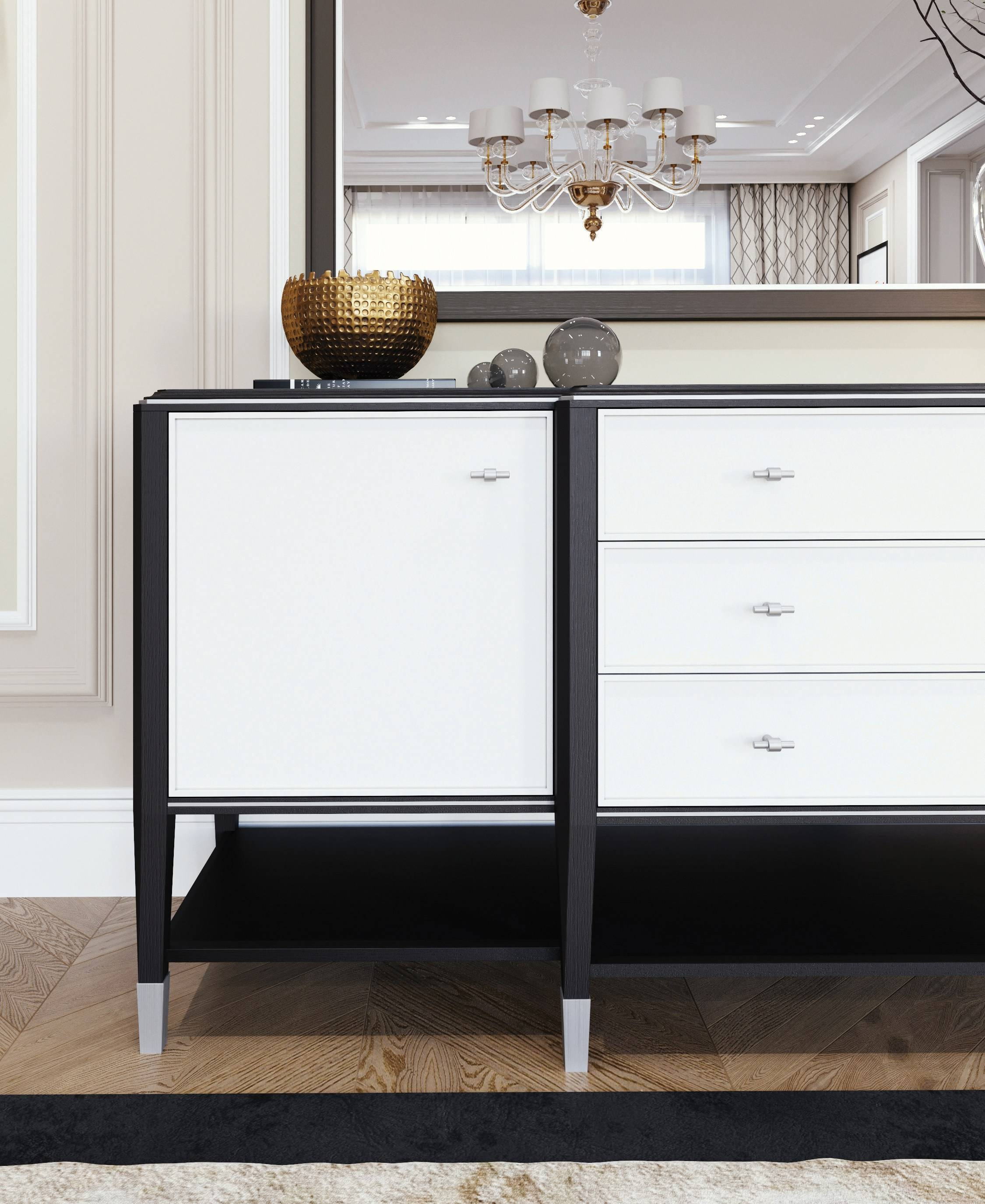 Silver Line | Sideboard Silver Line Collectionitalianelements Throughout Silver Sideboards (#18 of 20)