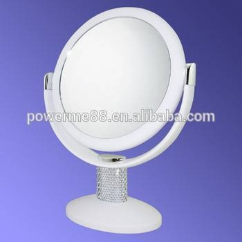 Silver Makeup Mirror Free Standing Table Mirror Silver Table Regarding Free Standing Table Mirrors (#29 of 30)
