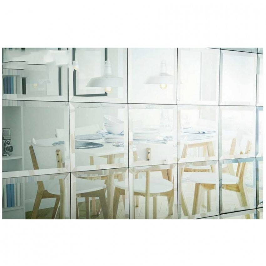 Silver Mirror Bevel Edge Mirror Wall Tiles 30Cm X 30Cm With Large Bevelled Edge Mirrors (View 4 of 30)