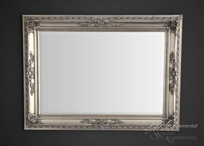 Silver Mirrors – Silver Wall Mirror For Ornate Silver Mirrors (View 6 of 20)