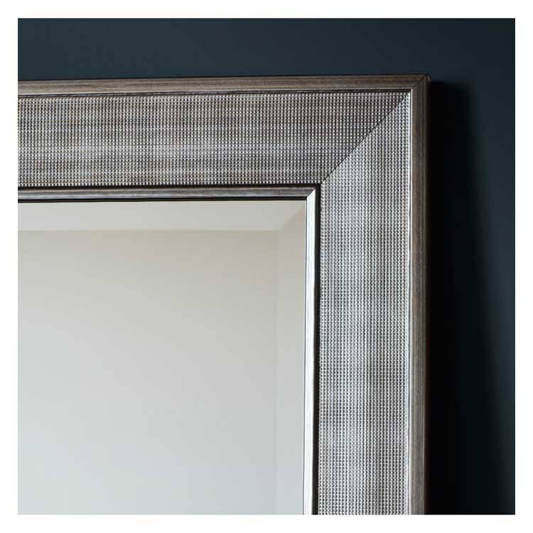 Silver Modern Beaded Wall Mirror 75 X 105Cm | Exclusive Mirrors With Modern Silver Mirrors (#20 of 20)