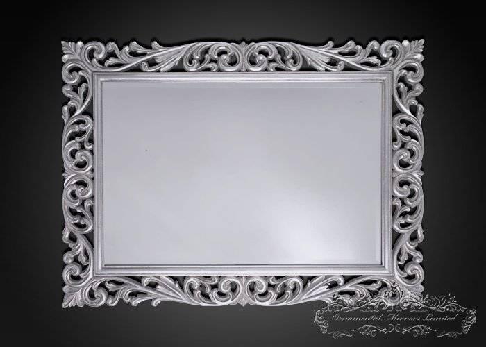 Silver Ornamental Mirrors From Ornamental Mirrors Limited Within Ornamental Mirrors (View 2 of 20)
