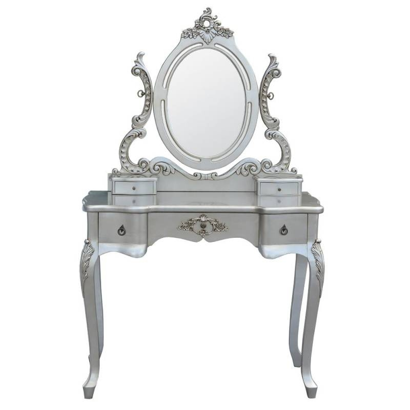 Popular Photo of Silver Dressing Table Mirrors