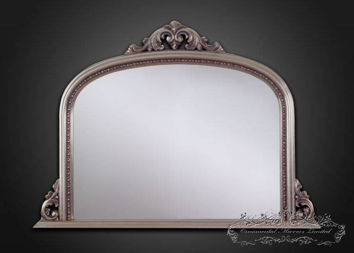 Silver Over Mantel Mirrors In Mantle Mirrors (#29 of 30)