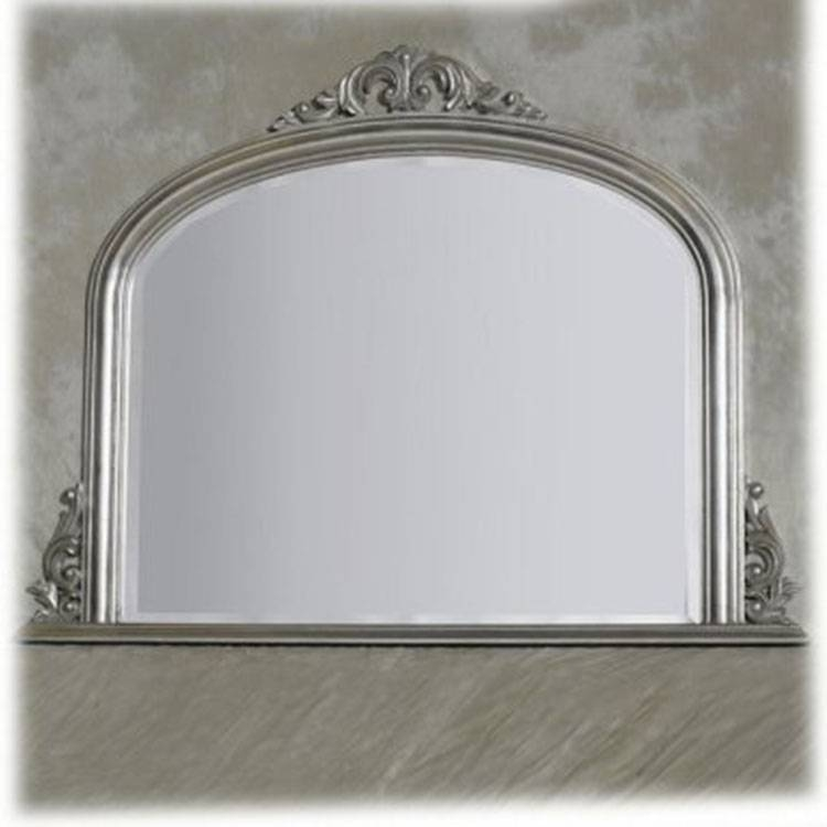 Silver Overmantle Entrata Mirror 120 X 90 Cm Silver Overmantle Throughout Over Mantle Mirrors (#26 of 30)