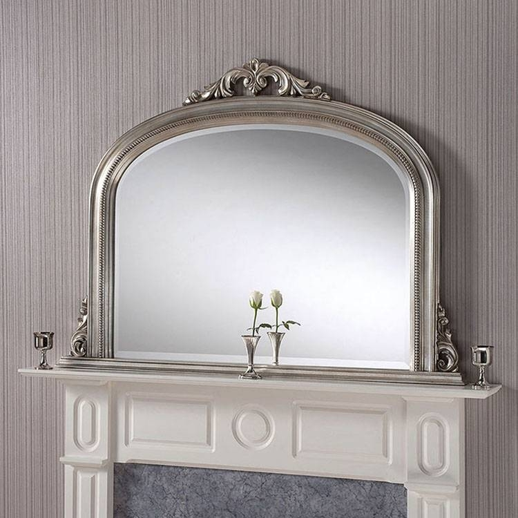 Silver Overmantle Mirror – 122 X 91Cm Silver Overmantle Mirror With Over Mantle Mirrors (#27 of 30)