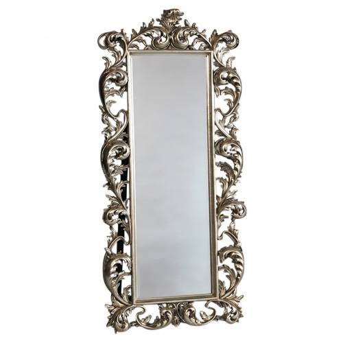 Silver Rococo French Mirror Free Standing [Ee481] : Beau Decor Throughout Free Standing Silver Mirrors (#28 of 30)