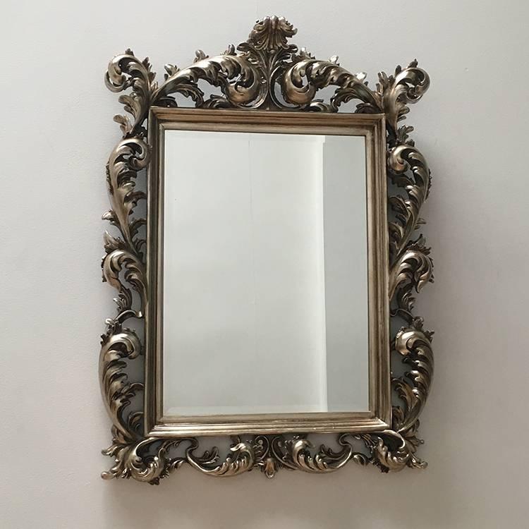 Silver Rococo Mirror 120 X 88Cm | Exclusive Mirrors Regarding Large Rococo Mirrors (#30 of 30)