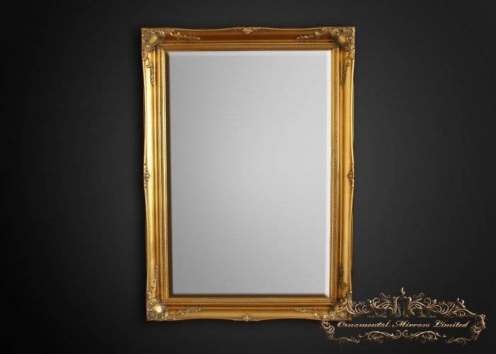 Simple Classic Gold French Mirrors From Ornamental Mirrors Limited For Gold French Mirrors (#25 of 30)