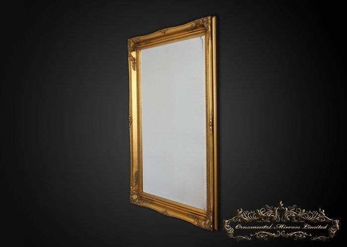 Simple Classic Gold French Mirrors From Ornamental Mirrors Limited With Regard To Gold French Mirrors (#27 of 30)