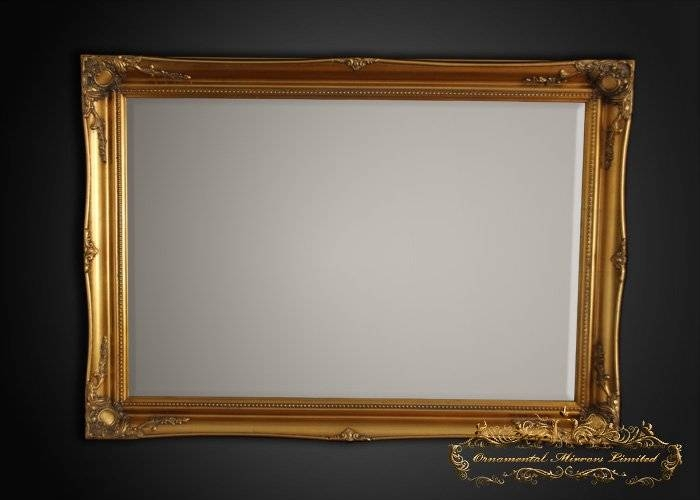 Simple Classic Gold French Mirrors From Ornamental Mirrors Limited With Regard To Gold French Mirrors (#26 of 30)