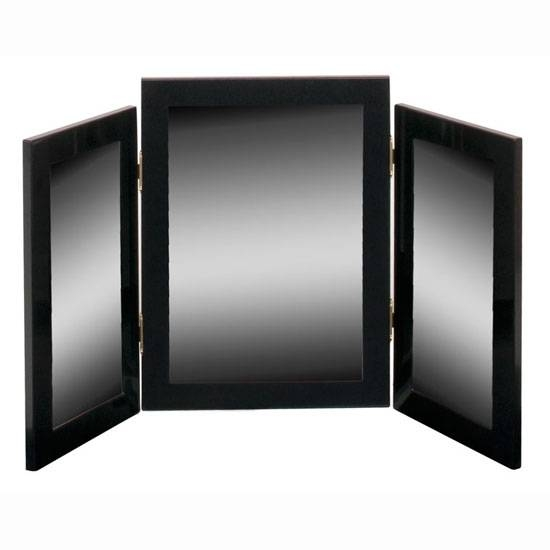 Simple Table Mirrors Triple Dressing Mirror R With Design Ideas With Regard To Black Dressing Mirrors (View 3 of 20)