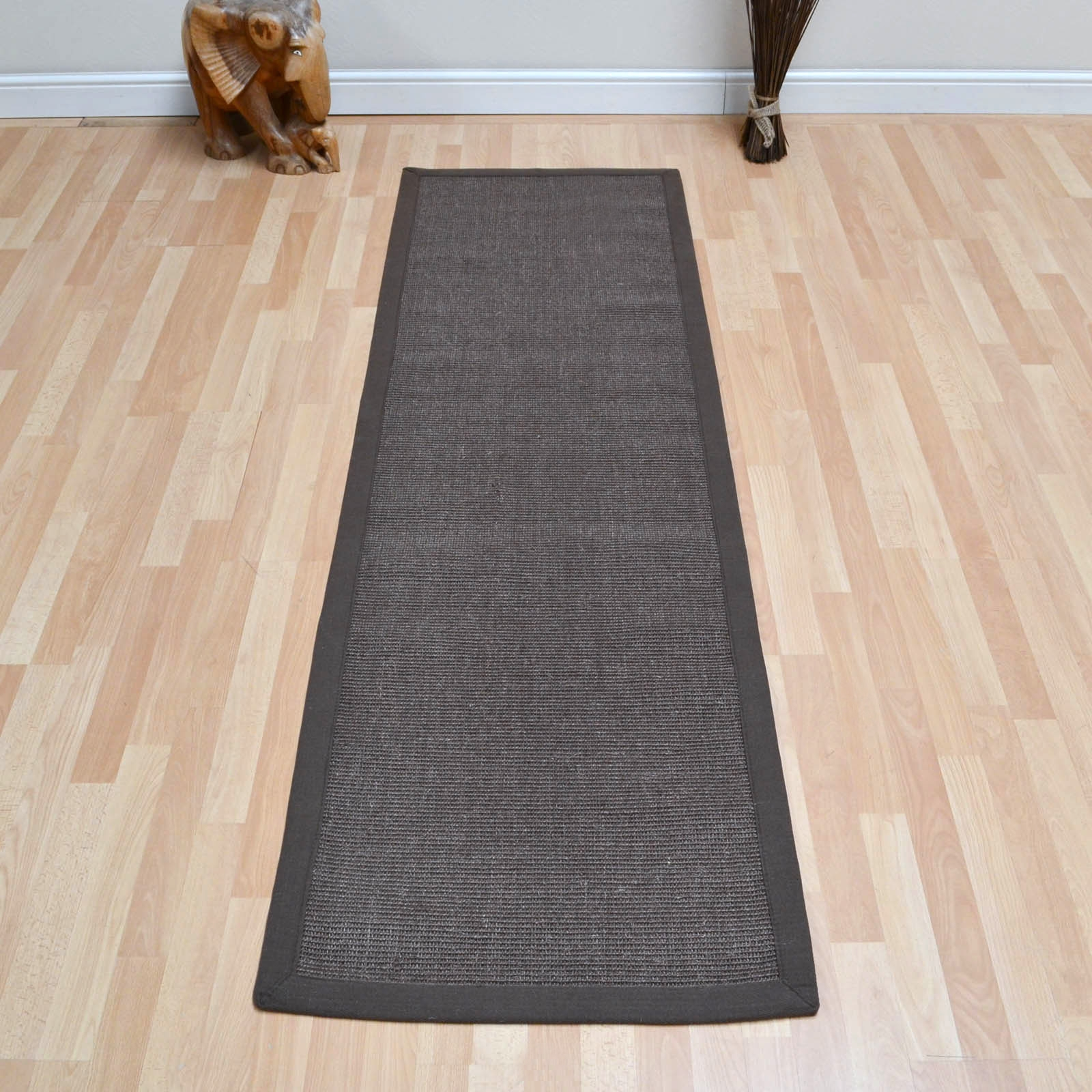 Sisal Hallway Runners In Linen Free Uk Delivery The Rug Seller Intended For Hallway Runners Black And Grey (#20 of 20)