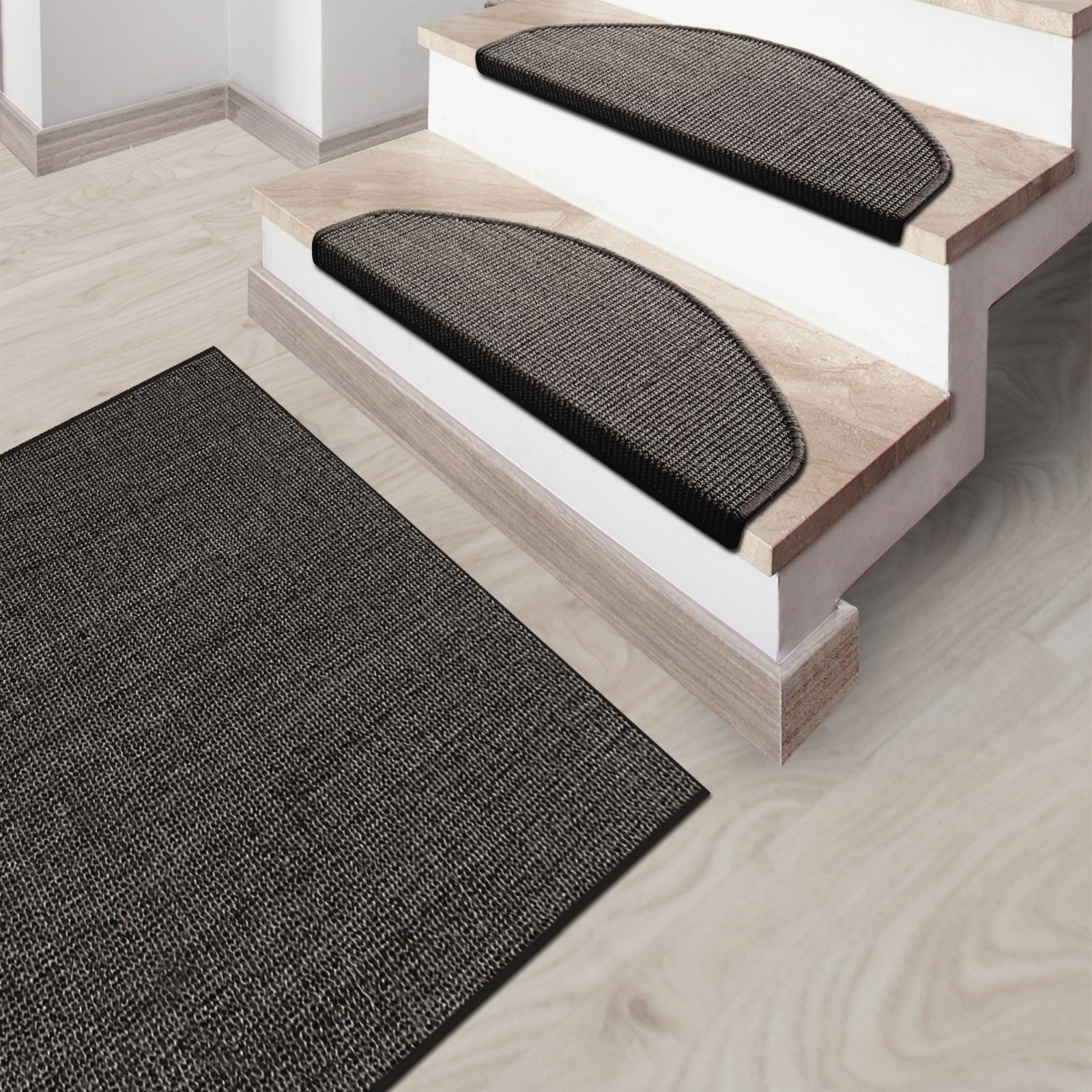 Sisal Rug Sylt Grey Stair Treads Also Available For Natural Stair Tread Rugs (#20 of 20)