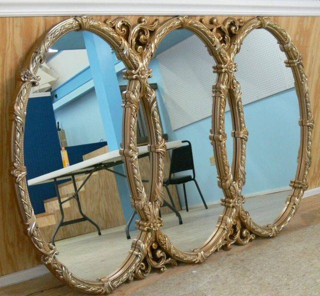 Popular Photo of Triple Oval Mirrors