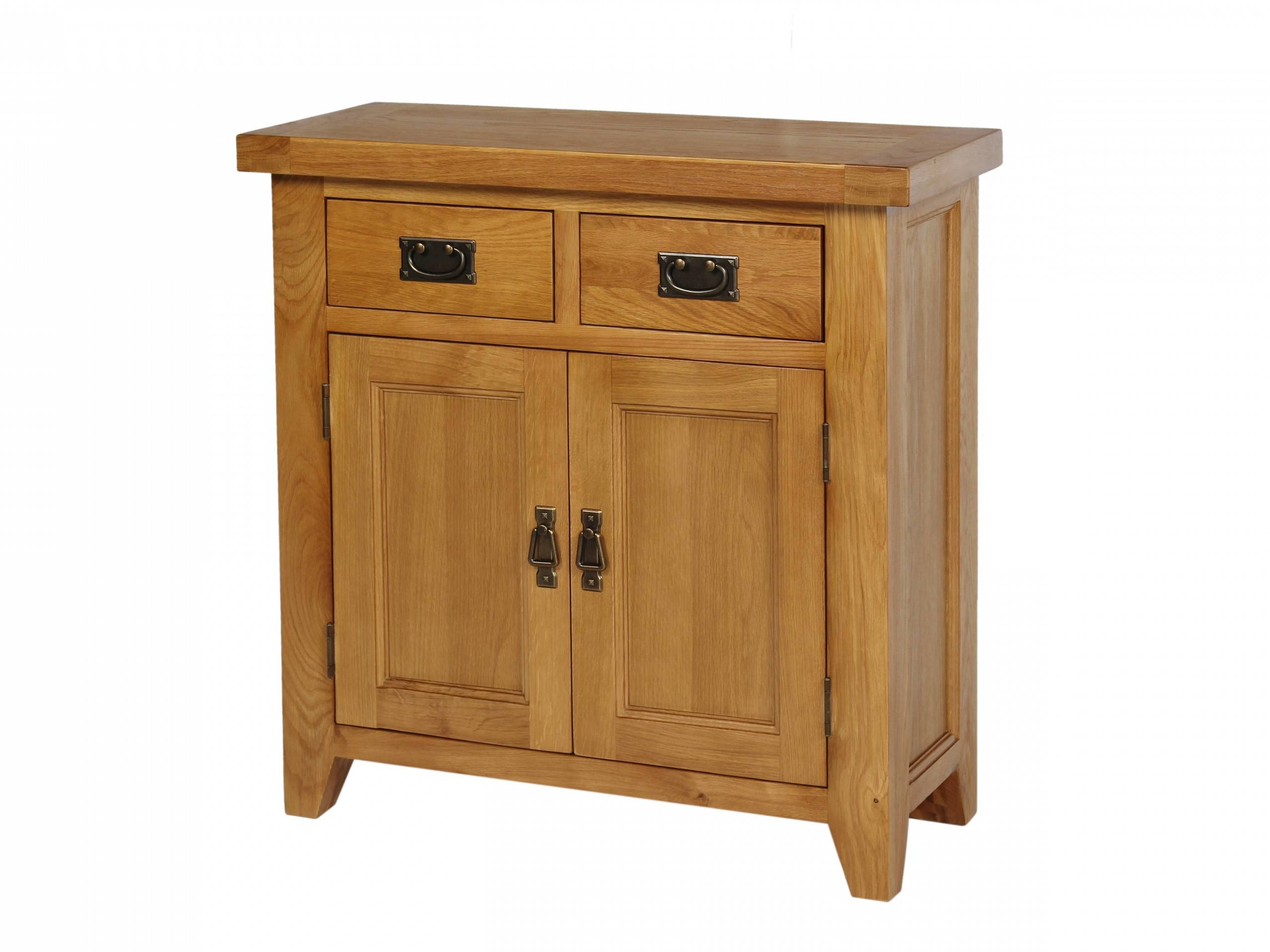 Small 80Cm Wide Country Oak Petite Sideboard Within Small Wooden Sideboard (#19 of 20)