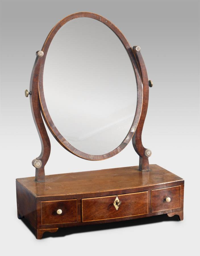 Small Antique Dressing Table Mirror, Antique Toilet Mirror, Small Intended For Small Antique Mirrors (View 6 of 20)