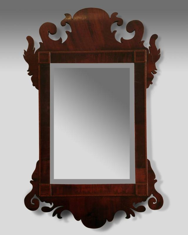 Small Antique Fret Mirror, Georgian Fret Mirror, Small Shaped Pertaining To Small Antique Mirrors (#12 of 20)