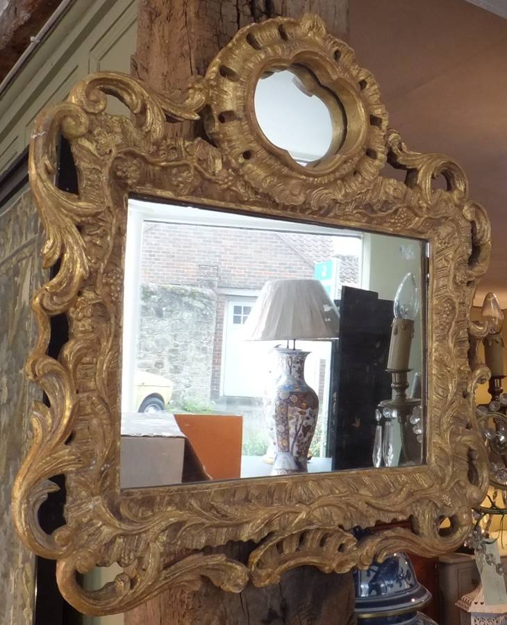 Small Antique Gilded Wall Mirror | Antique Mirrors With Regard To Small Antique Wall Mirrors (#25 of 30)