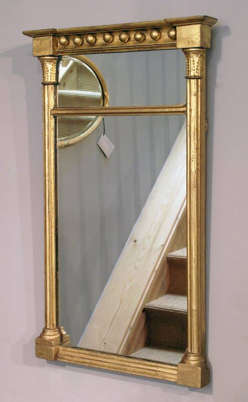 Small Antique Gilt Wall Mirror, Gilt Pier Mirror, William Iv Gilt With Small Antique Mirrors (View 16 of 20)