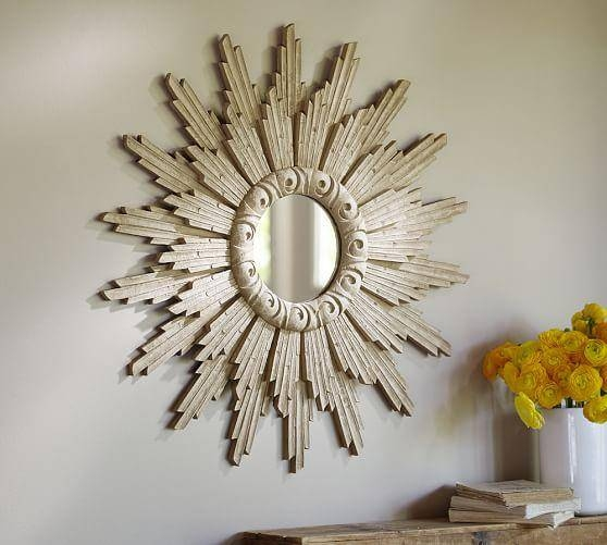 Small Antique Gold Leila Sunburst Mirror Intended For Extra Large Sunburst Mirrors (#17 of 20)