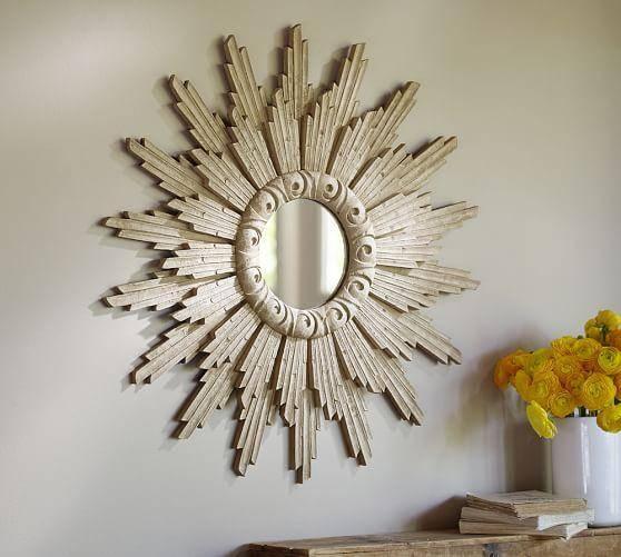 Small Antique Gold Leila Sunburst Mirror With Regard To Large Sunburst Mirrors (#16 of 20)
