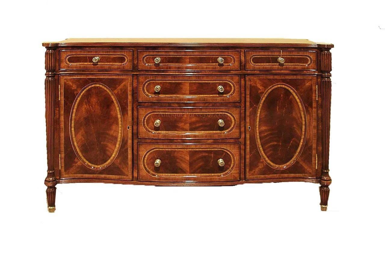 Small Antique Mahogany Dining Room Sideboard Buffet Replica Pertaining To Small Sideboard Cabinet (#16 of 20)