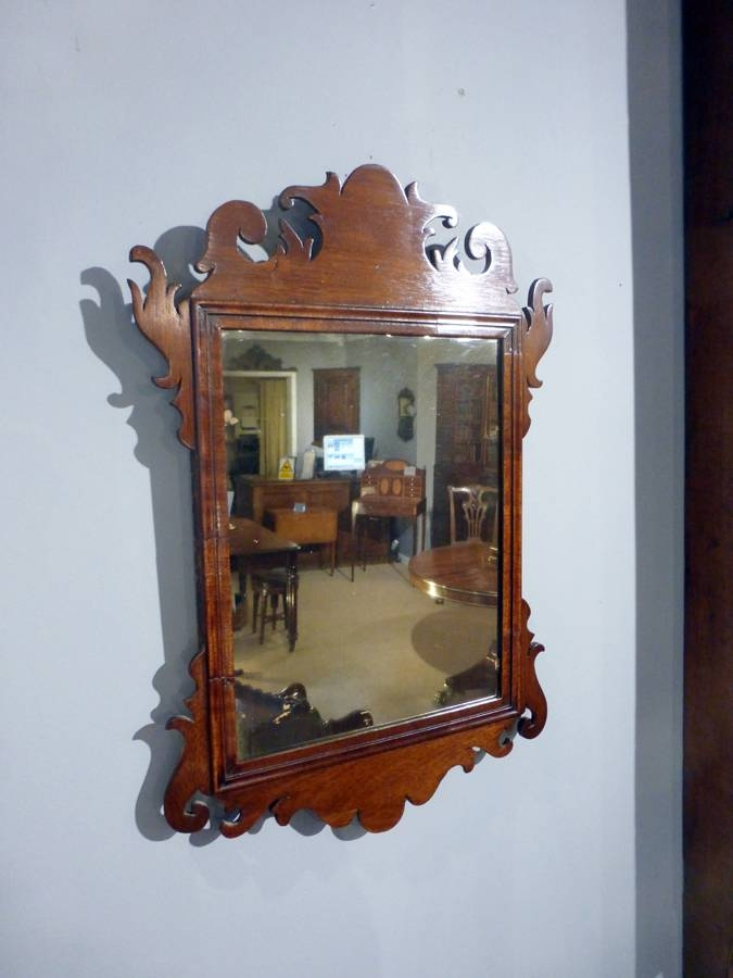 Small Antique Mirror, Wall Mirror, Fret Mirror, Carved Mirror Within Small Antique Wall Mirrors (#26 of 30)