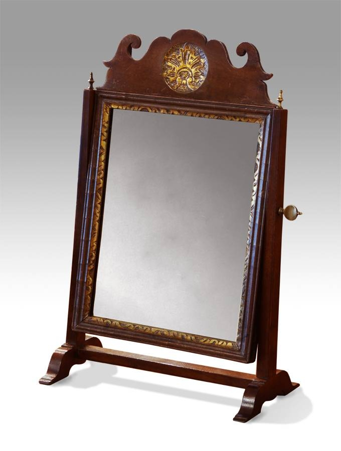 Small Antique Swing Mirror, Georgian Swing Mirror, Small Dressing Inside Small Antique Mirrors (#17 of 20)