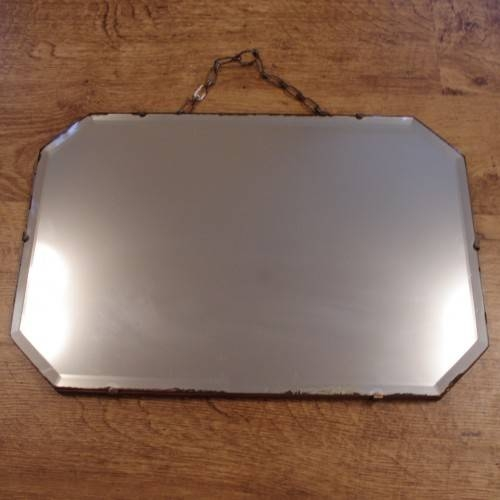 Small Bevelled Edge Mirror, 30S 50S Shabby Chic For Vintage Bevelled Edge Mirrors (#25 of 30)