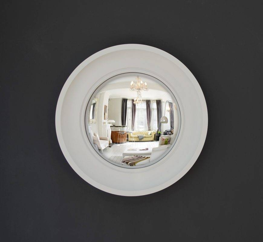 Small Cavetto Decorative Convex Mirror – Hand Finished – Omelo With White Convex Mirrors (#27 of 30)