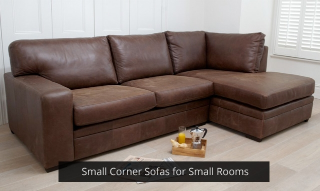 Small Corner Sofas For Small Rooms Darlings Of Chelsea Design Blog With Regard To Small Brown Leather Corner Sofas (#12 of 15)