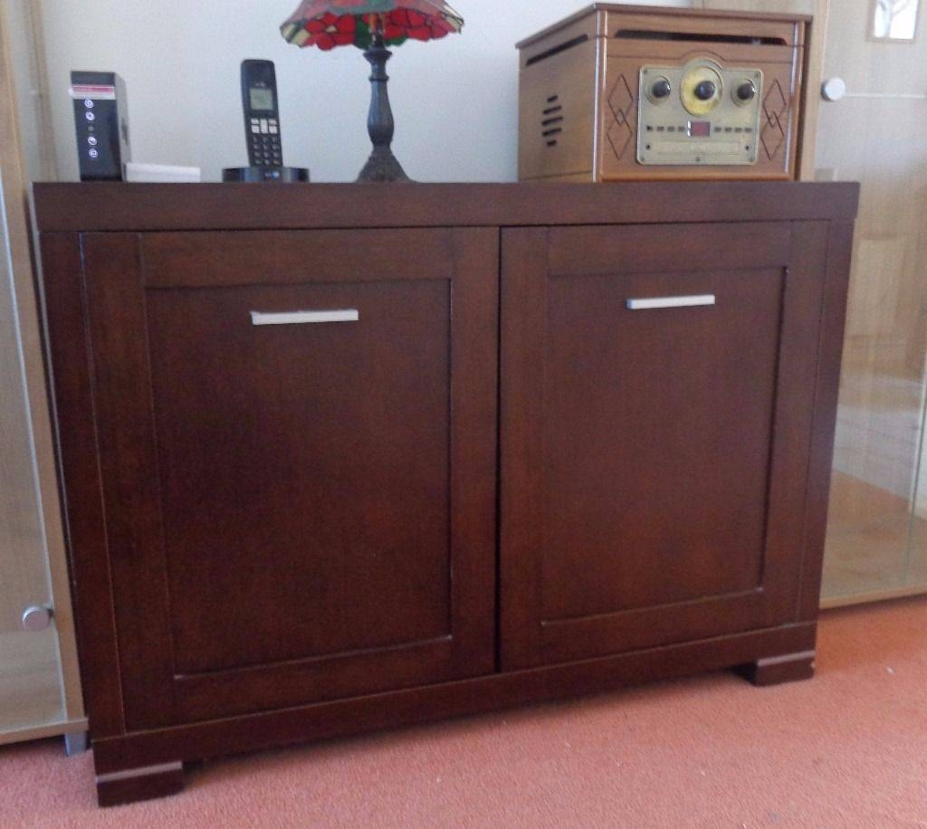 Small Dark Wood Sideboard Great For Storage | In Barton On Sea Throughout Small Dark Wood Sideboard (#19 of 20)
