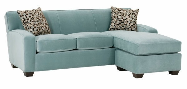 Small Fabric Sleeper Sectional Sofa With Reversible Chaise Club Pertaining To Mini Sofa Sleepers (#14 of 15)