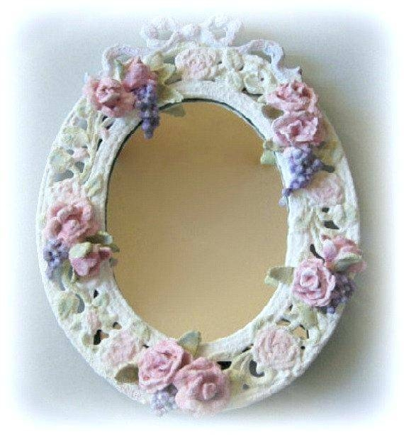 Small Framed Mirror – Shopwiz Regarding Shabby Chic Wall Mirrors (View 27 of 30)
