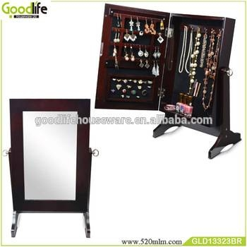 Small Free Standing Bedroom Jewellery Cabinet Organizer With Pertaining To Buy Free Standing Mirrors (#18 of 20)