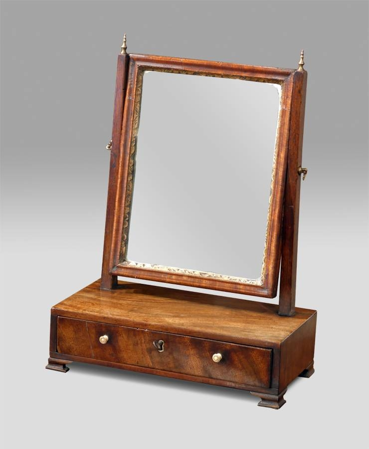 Small Georgian Dressing Table Mirror, Toilet Mirror, Antique Intended For Small Antique Mirrors (View 18 of 20)