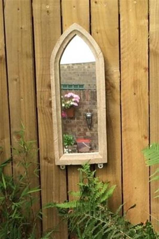 Small Gothic Resin Stone Garden Mirror | Garden Mirrors, Outdoor Within Gothic Garden Mirrors (#29 of 30)