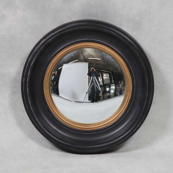 Small Round Antique Black 'fish Eye' Convex Mirror – Decorum Designs With Regard To Black Convex Mirrors (#19 of 20)