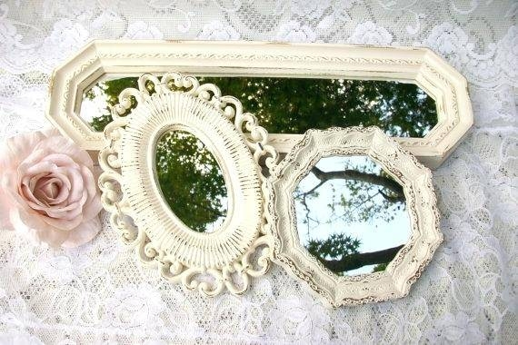 Small Wall Mirror Set Of Two In Traditional Gold Vintage Home Within Small Antique Wall Mirrors (#29 of 30)