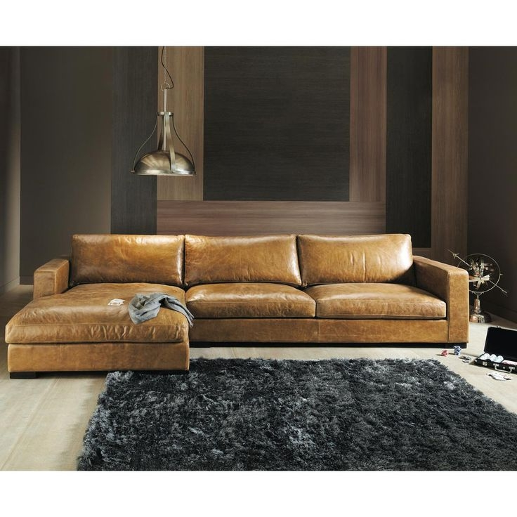 Sofa Astounding Brown Leather Sectional Couch Brown Sectional In Vintage Leather Sectional Sofas (#12  sc 1 st  Home Design Projects : brown leather sectionals - Sectionals, Sofas & Couches